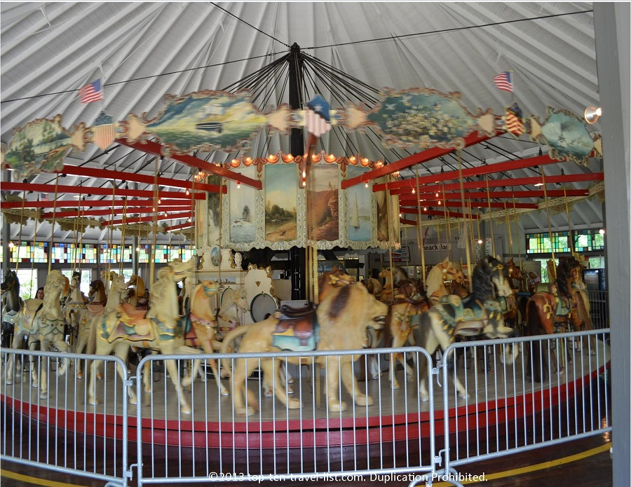 Oldest Looff Carousel at Slater Memorial Park in Pawtucket, Rhode Island