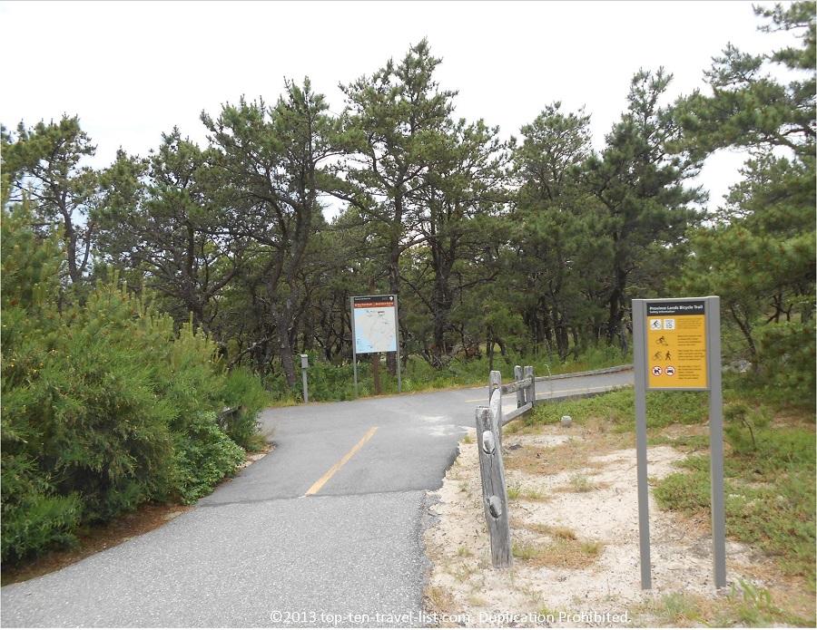 Province Lands Bike Path starting point - Massachusetts