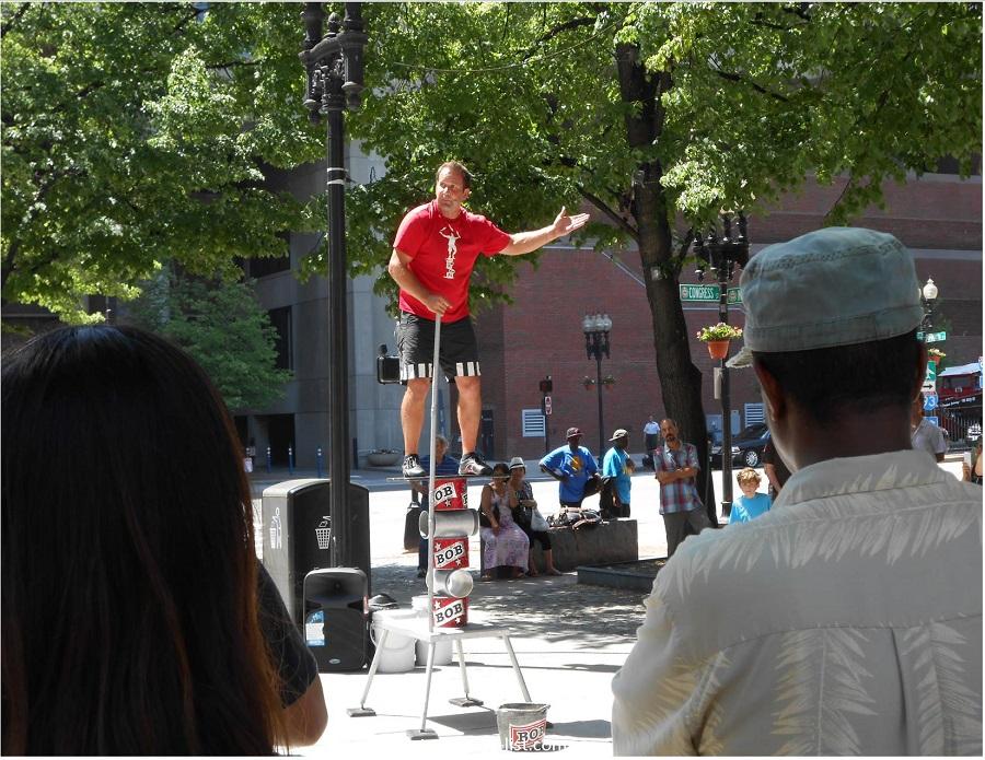 Street performer at Faneuil Hall - Boston, Massachusetts
