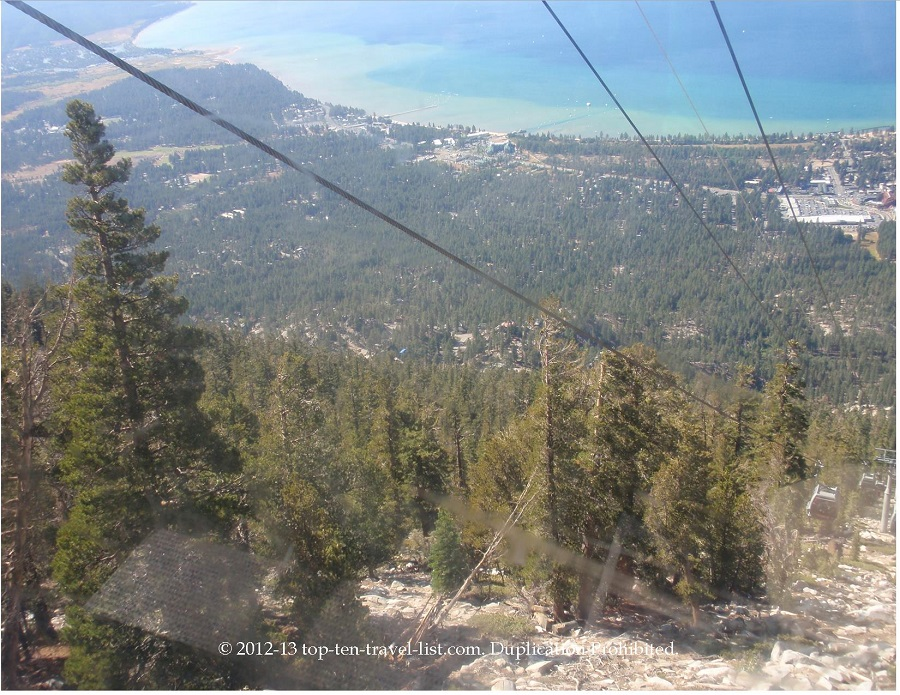 Heavenly Village gondola ride in South Lake Tahoe, California