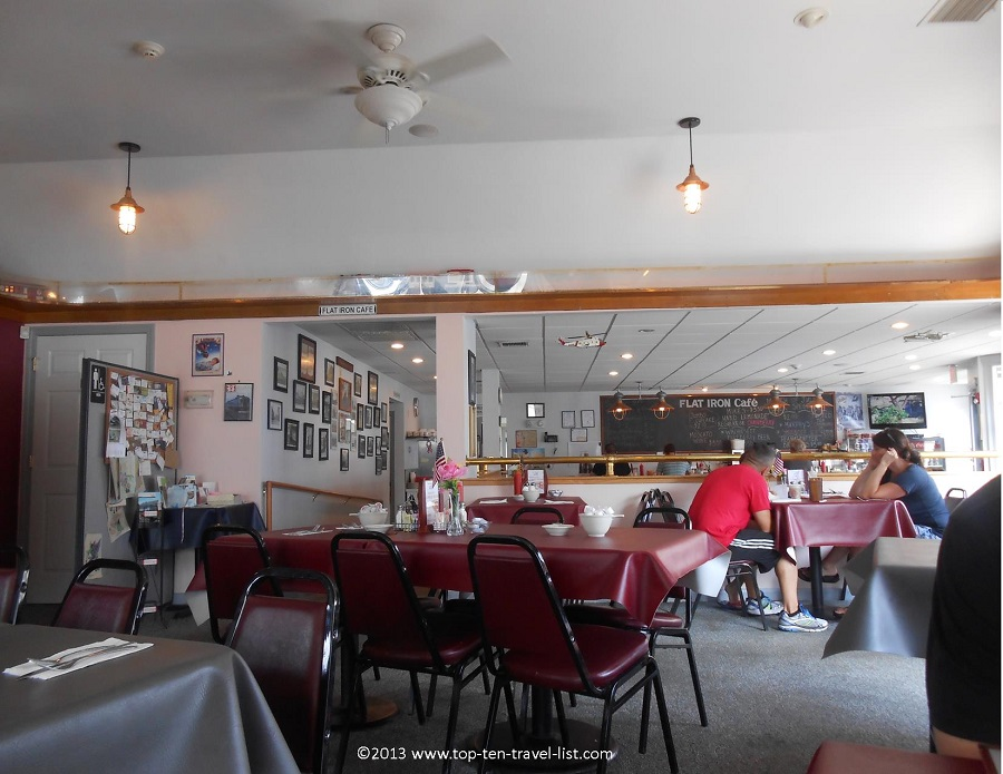Flat Iron Cafe dining room - Middleboro, MA