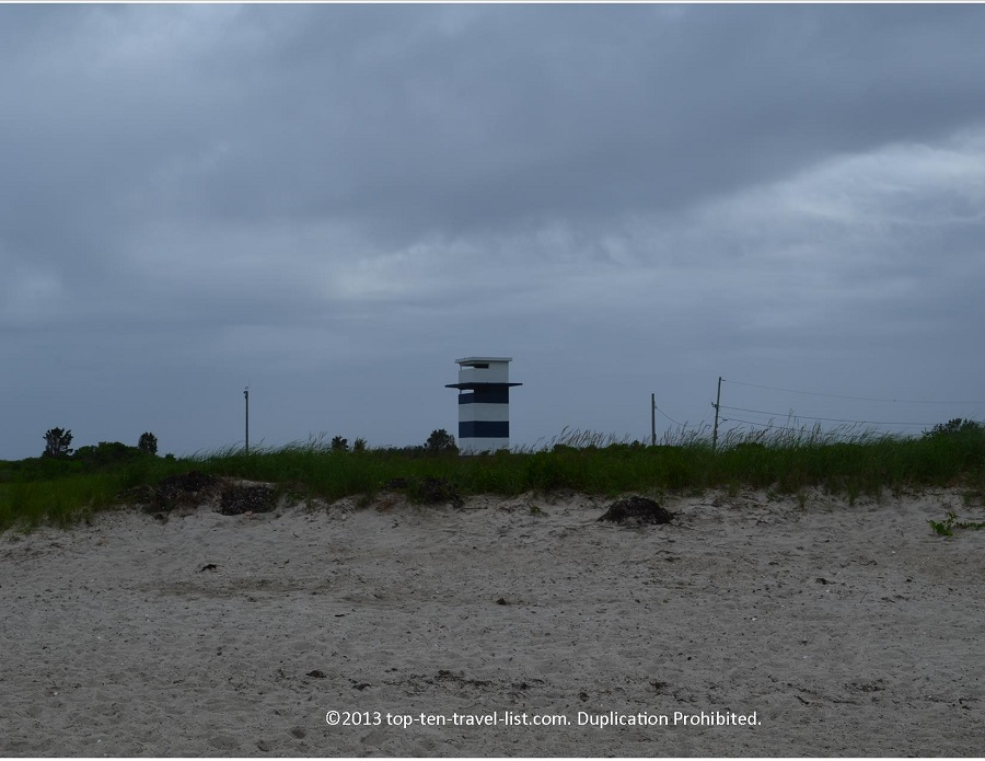 WW2 lookout tower at West Island Town Beach - Fairhaven, MA