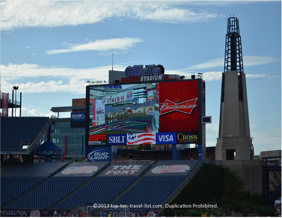 48 foot HGTV screen at Gillette Stadium