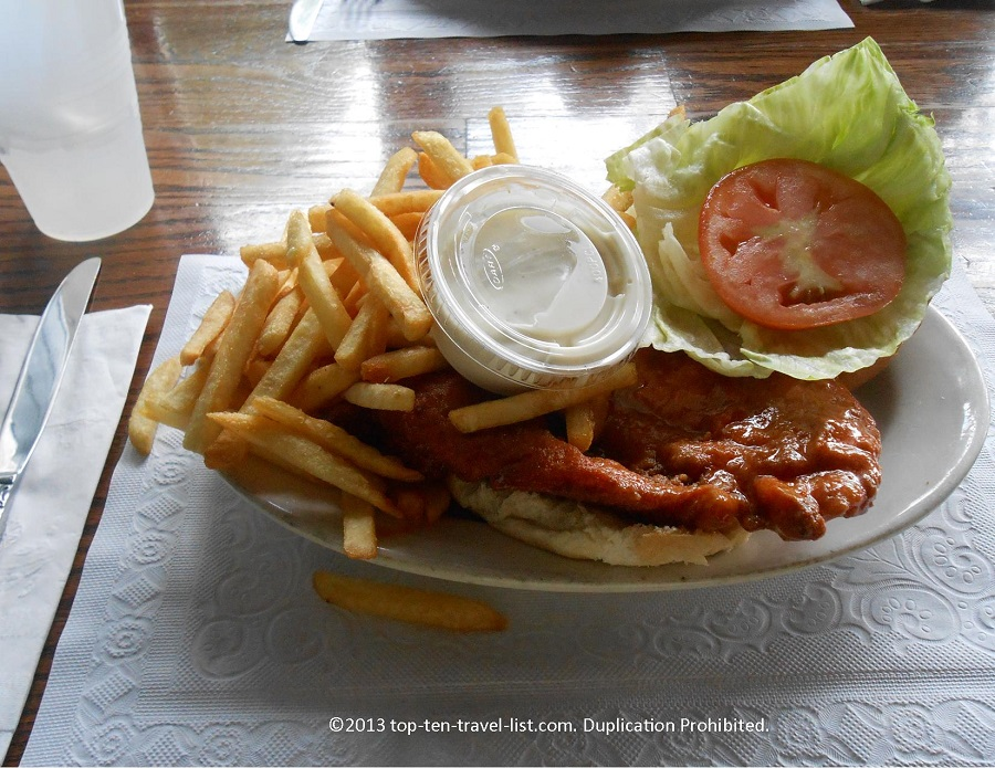 Buffalo Chicken sandwich - Central Cafe - Middleboro, MA
