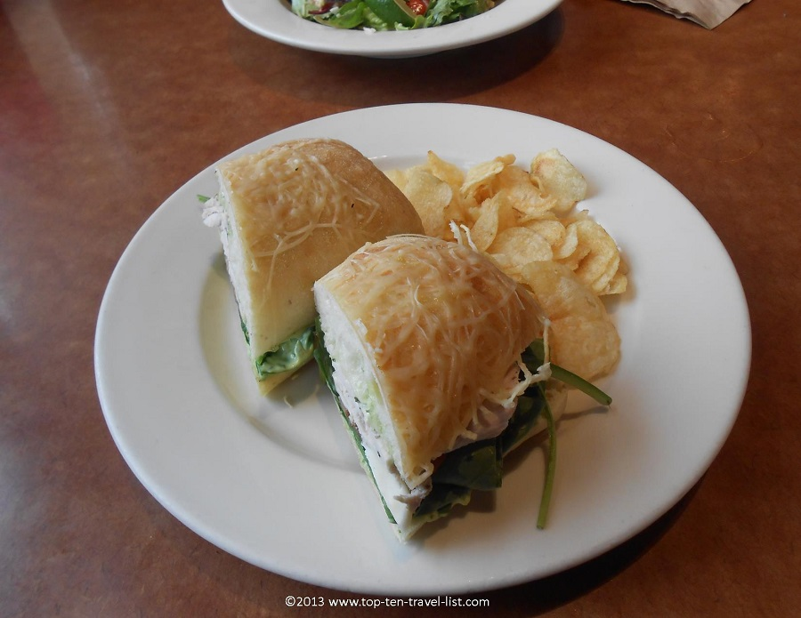 Chicken Ciabatta sandwich at Cafe Nordstrom - Providence Place Mall - Providence, RI