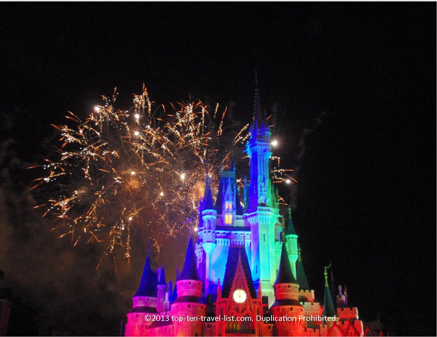 Fireworks at Magic Kingdom in Walt Disney World
