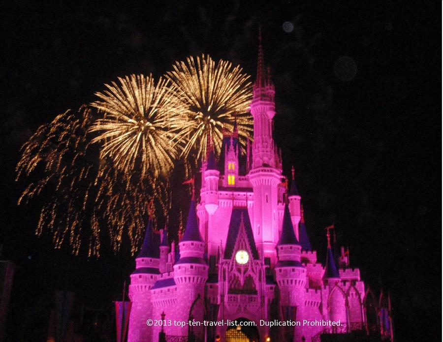 Fireworks at Magic Kingdom at Walt Disney World