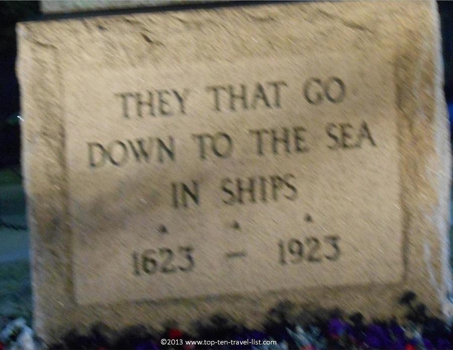 Fisherman's Memorial Statue plaque - Gloucester, MA
