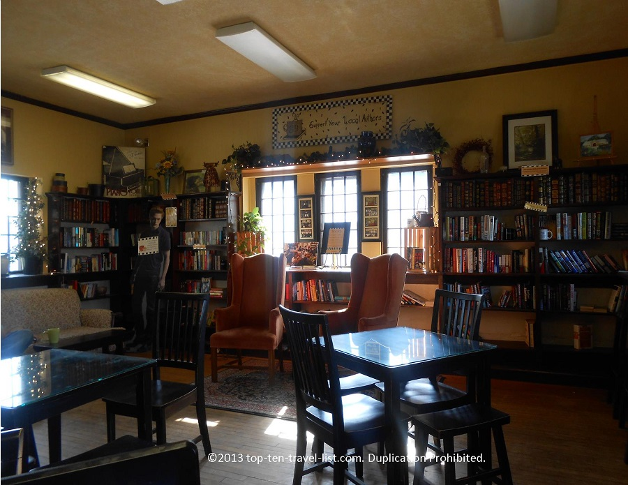 Interior of Somethin's Brewin' Coffee Shop in Lakeville, MA