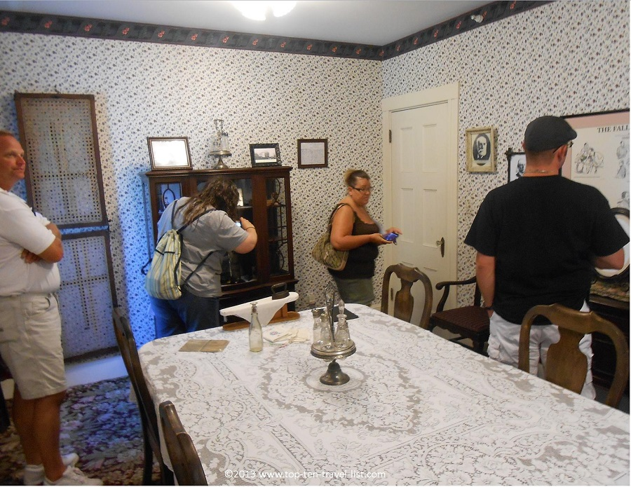 Dining room in the Lizzie Borden house - Fall River, Massachusetts