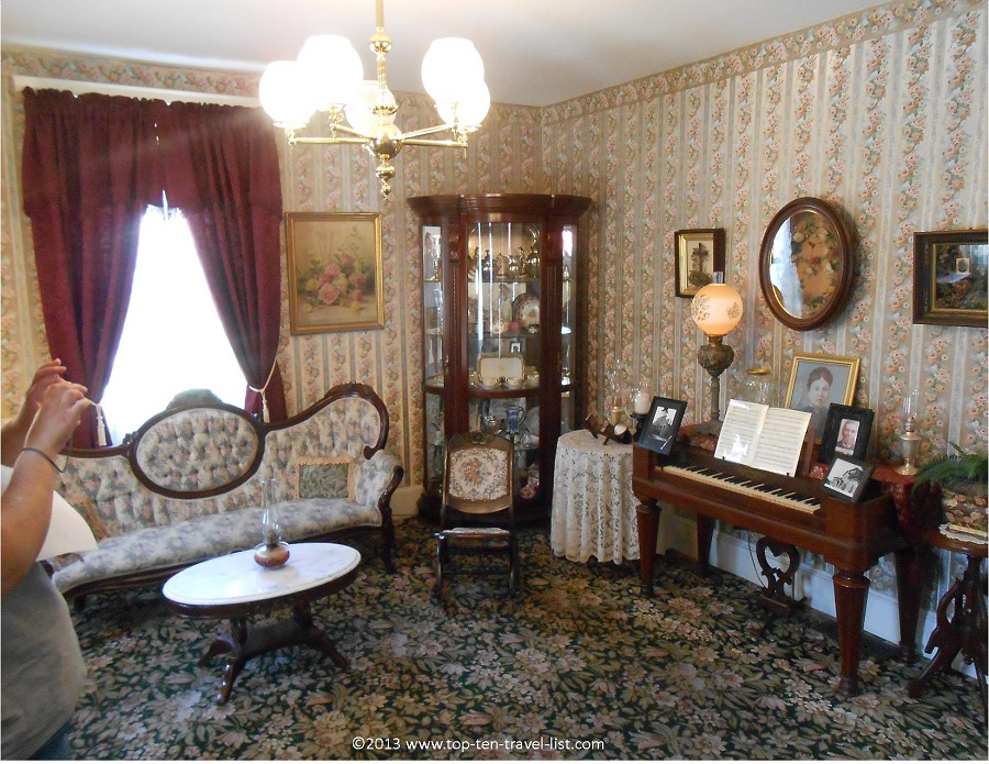Living room in the Lizzie Borden house - Fall River, Massachusetts