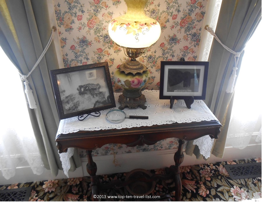 Picture of the hachet in the Lizzie Borden house - Fall River, MA