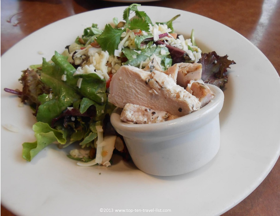 Lime and chicken cilantro salad at Cafe Nordstrom - Providence Place Mall - Providence, RI