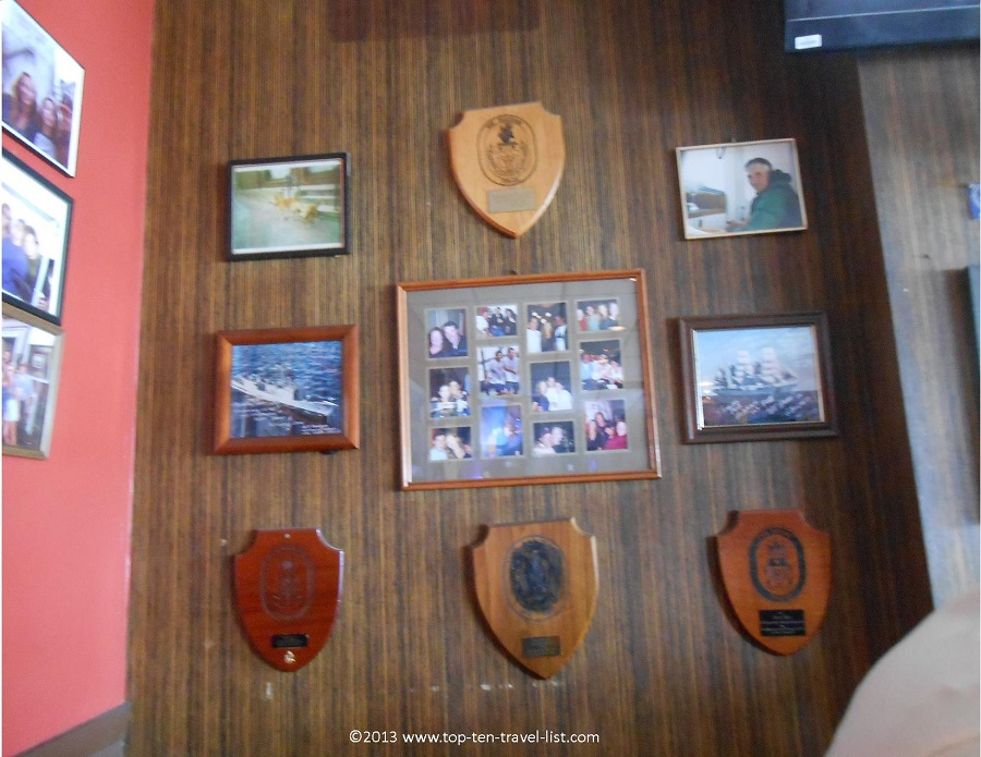 Plaques and pics of Andrea Gail - Crow's Nest - Gloucester, MA