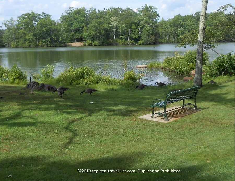 Scenic views at Lincoln Woods State Park in Lincoln, Rhode Island