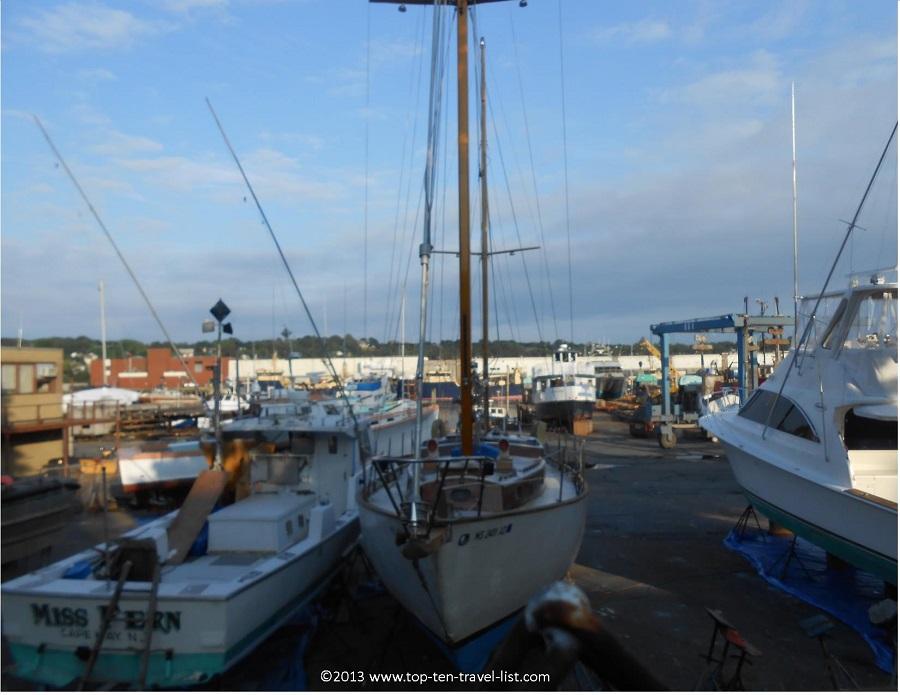 Shipyard in Gloucester, MA - near the Crow's Nest