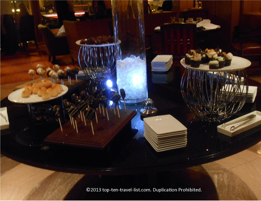 Dessert table at Sundaes on Saturdays at The Bristol Lounge at Four Seasons Boston