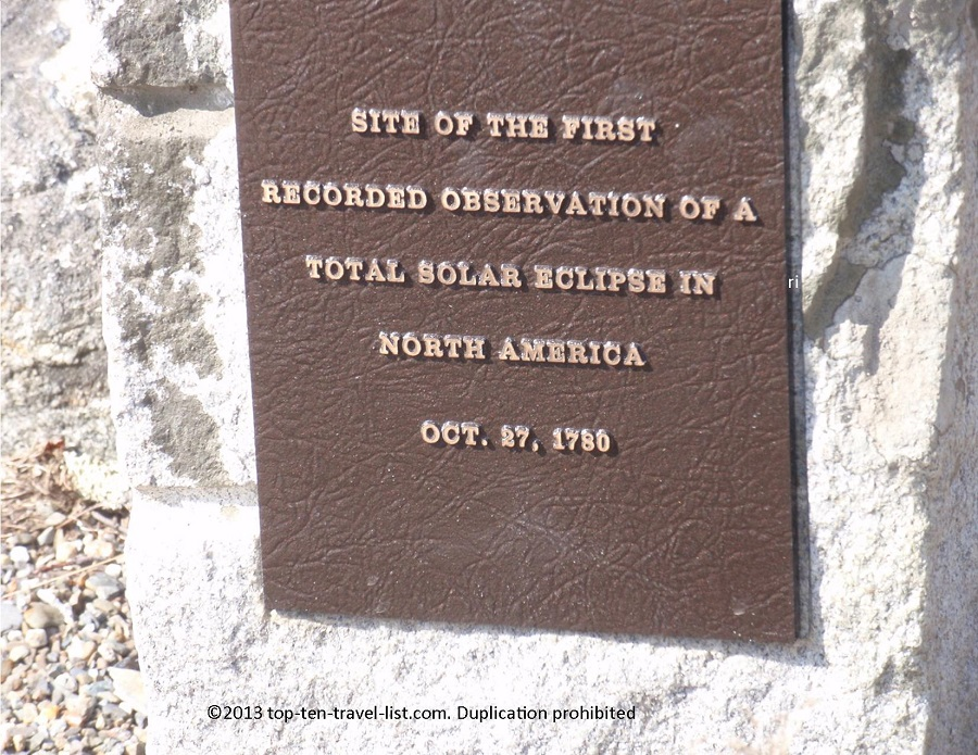 1st Solar Eclipse site in Islesboro, Maine