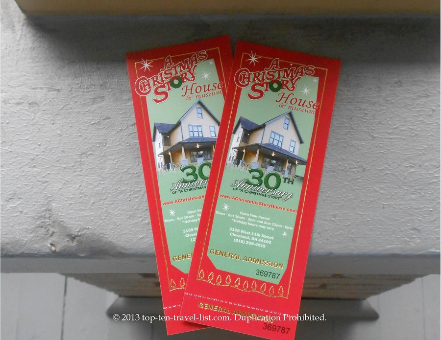Christmas Story house tickets for 30th Anniversary