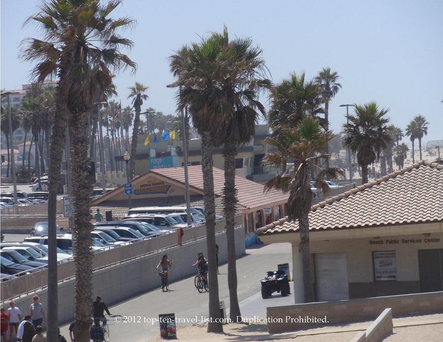 Huntington Beach path along the beach