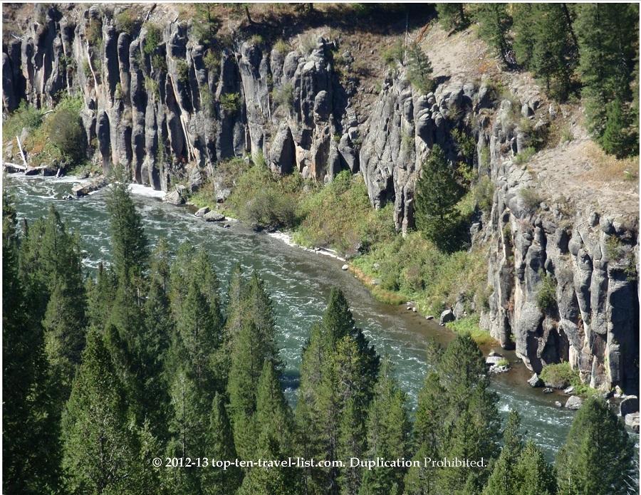Mesa Falls - Views of the river - Lower Falls - Idaho