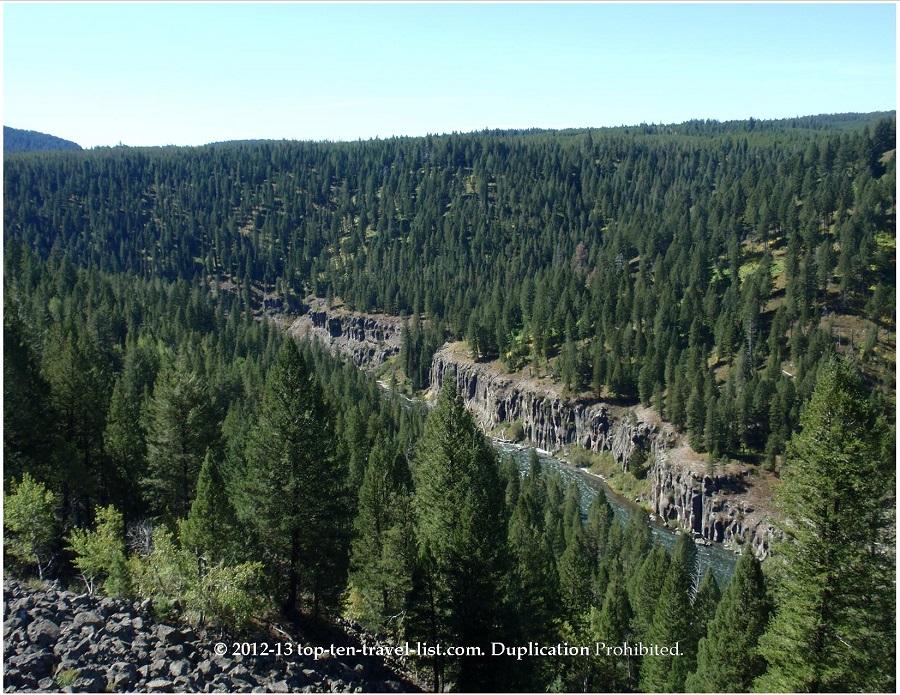 Mesa Falls - Lower Falls views - Idaho