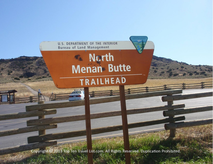 North Menan trail sign - Menan, Idaho