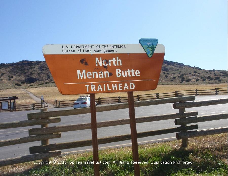 North Menan trail sign - Menan, Idaho
