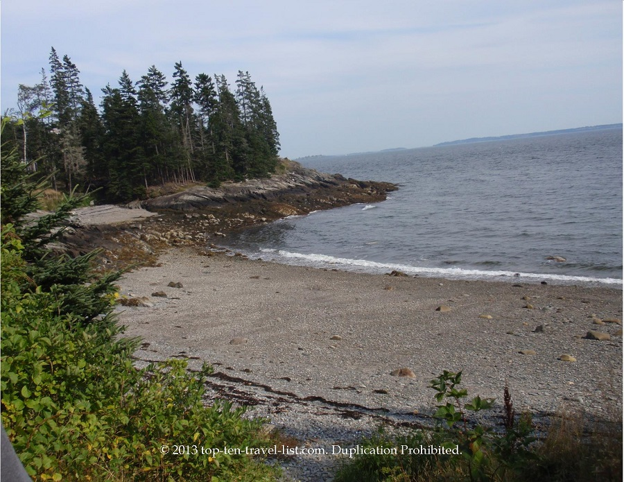 Pretty beach in Islesboro, Maine