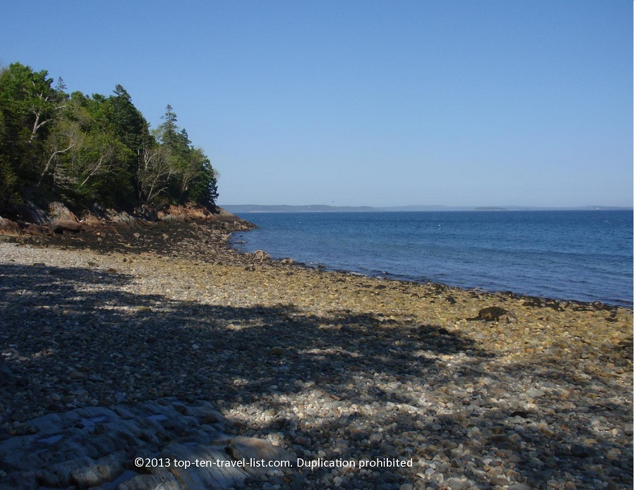 Scenic beach in Islesboro, Maine