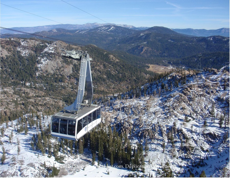 Aerial tram ride at Squaw Valley - Olympic Valley, CA