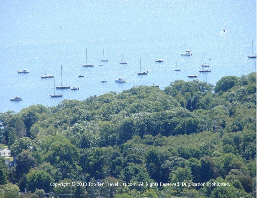 Boats in Camden Harbor - Camden Hills State Park - Camden, Maine