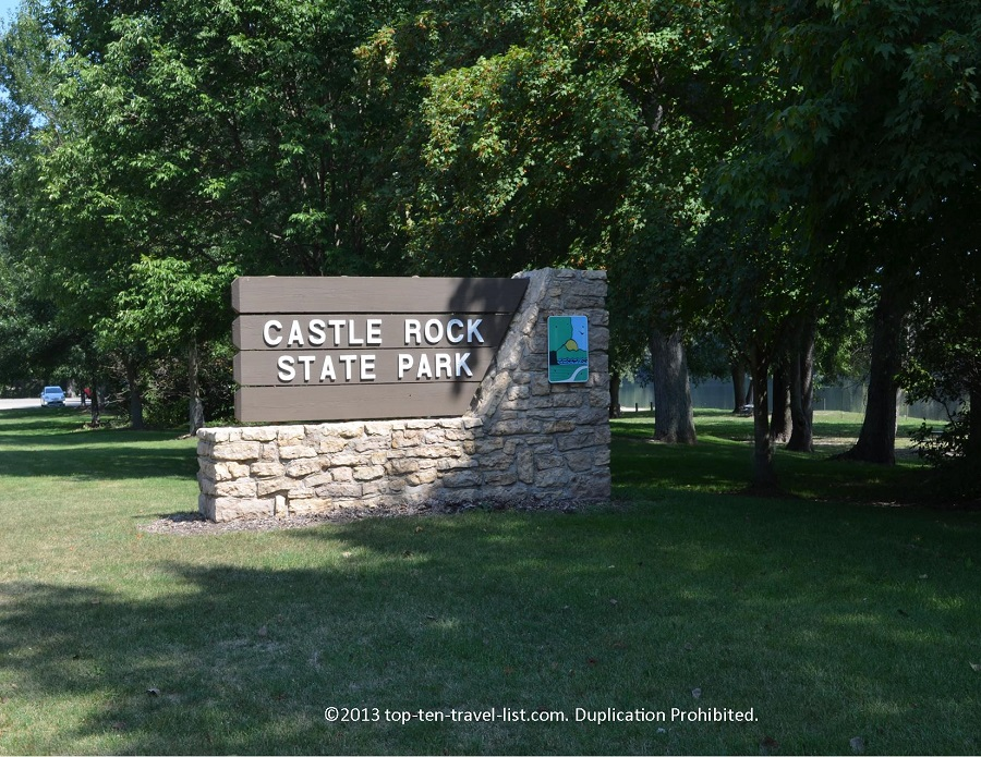 Castle Rock State Park sign - Oregon, IL