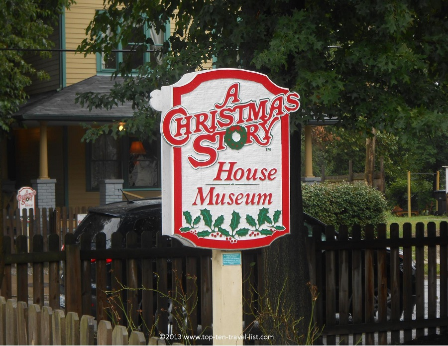 A Christmas Story House museum sign