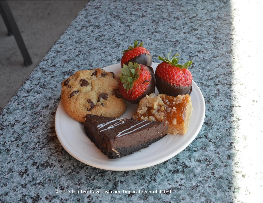 Dessert plate at the Atlantic Beach Club in Middletown, Rhode Island