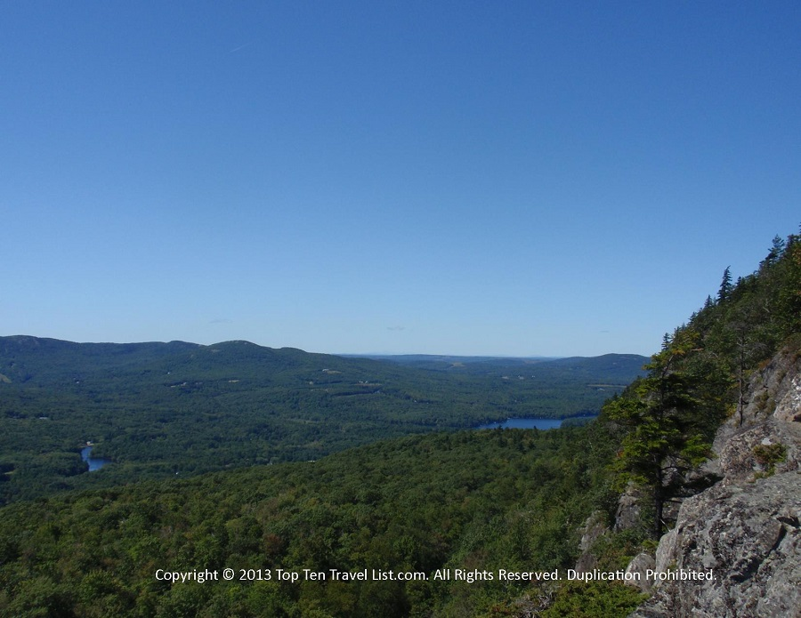 Scenic forest views at Camden Hills State Park in Camden, Maine