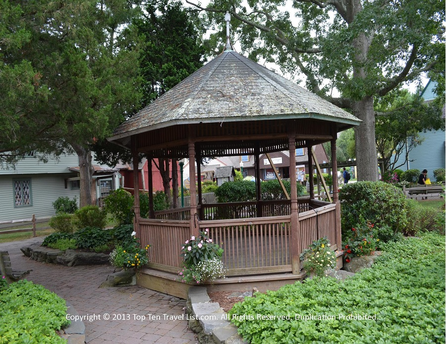 Gazebo at Olde Mystick Village in Mystic, CT