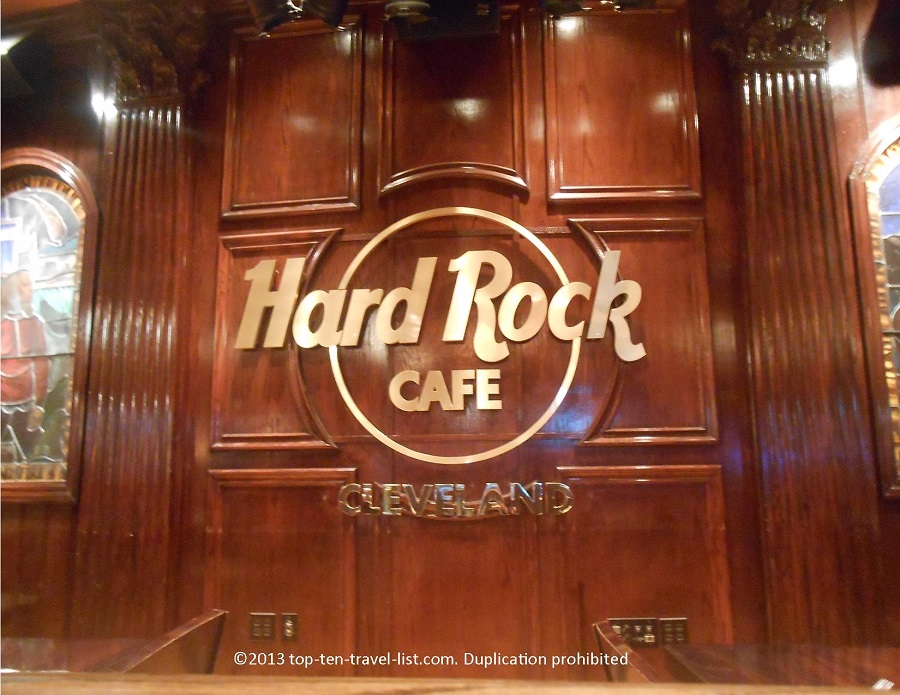Hard Rock Cafe Cleveland sign