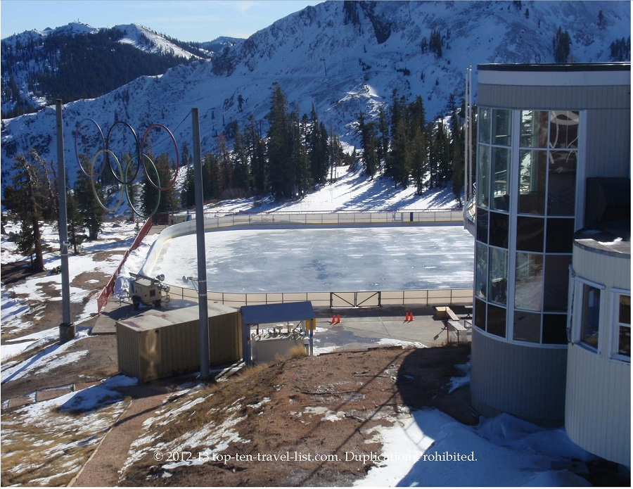 Squaw Valley Olympic Rings and ice rink - Lake Tahoe