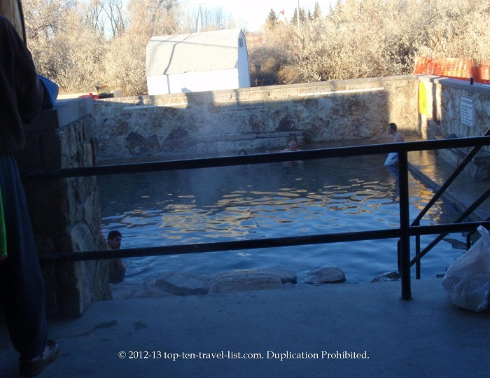 Hobo Pool hot springs in Saratoga, Wyoming
