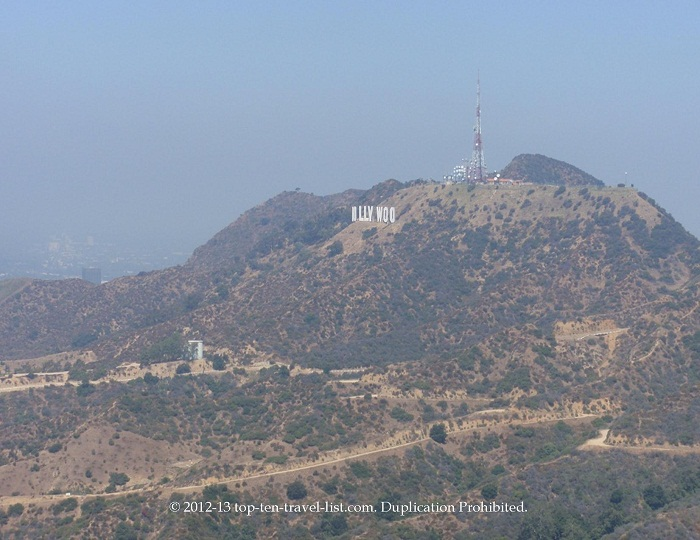 Hollywood Sign - Griffith Observatory hike views