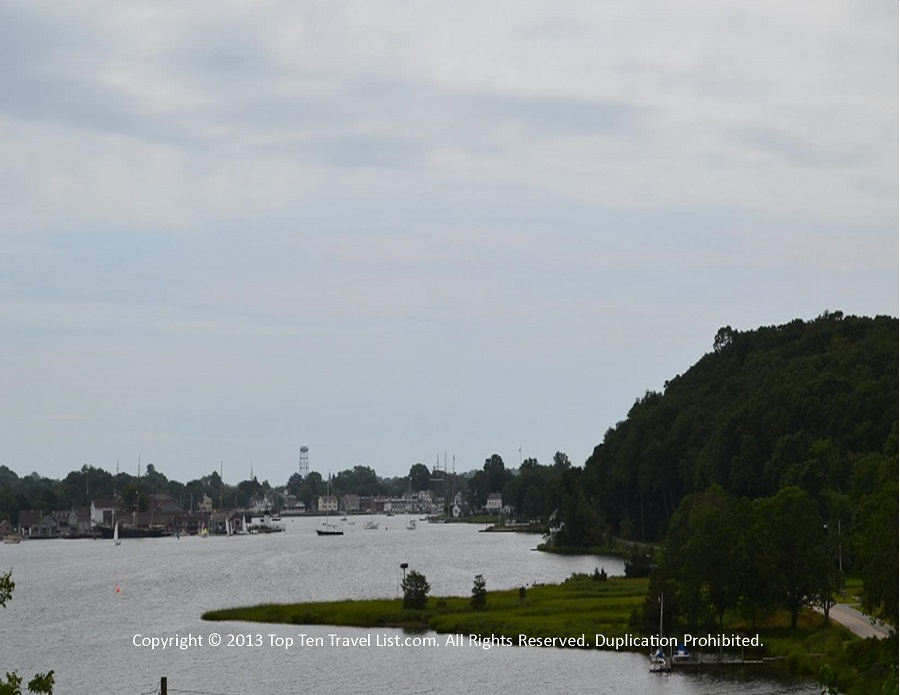 Mystic CT scenic overlook