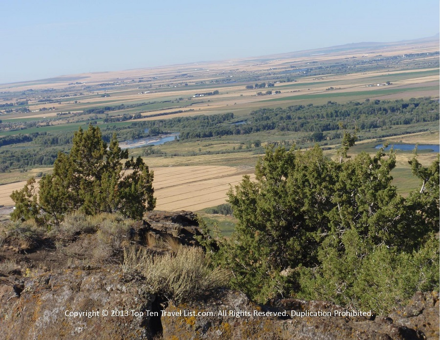 Views from the top of the North Menan Butte trailhead in Menan, Idaho