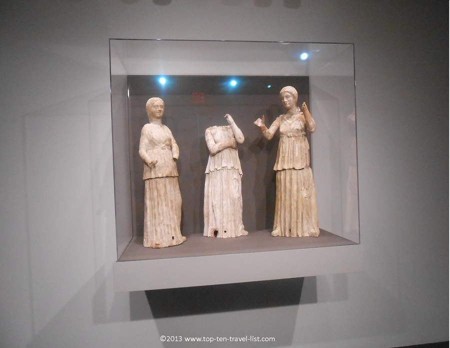 Ancient statues from Italy at the Worcester Art Museum in Massachusetts
