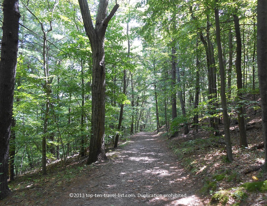 Hiking path at Blue Hills Reservation in Massachusetts