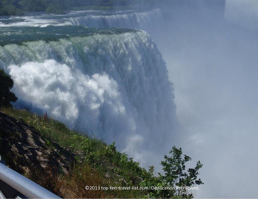 Up close view of Niagara Falls