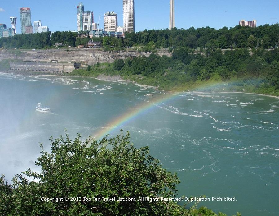 Rainbow over the waters at Niagara Falls