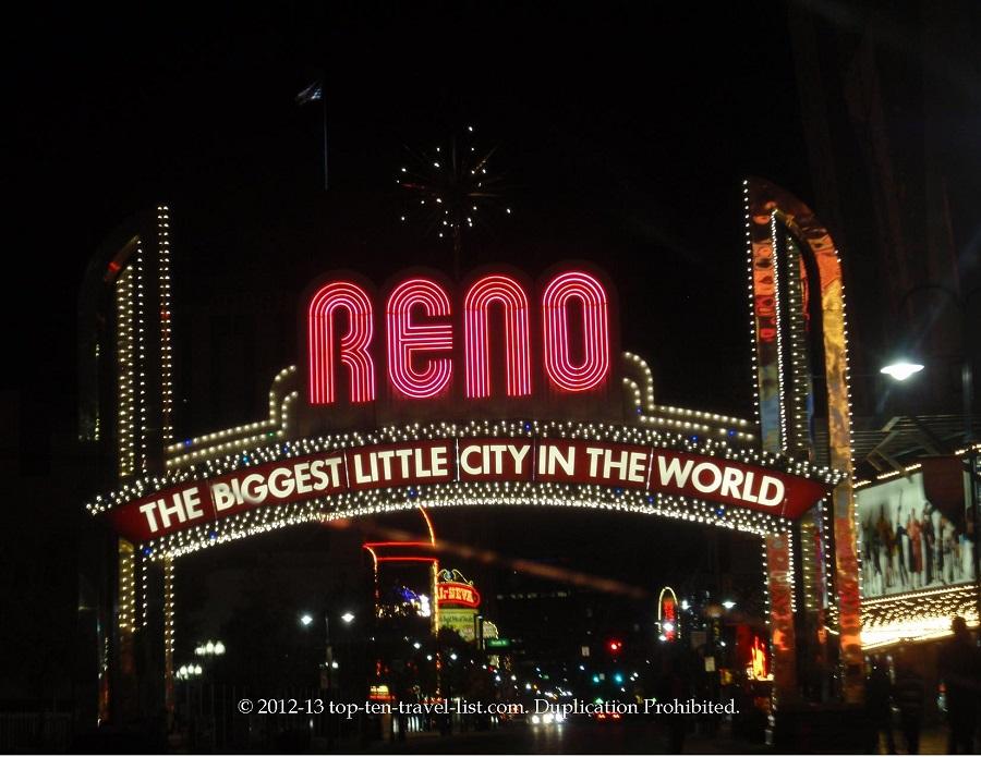 Reno, NV sign