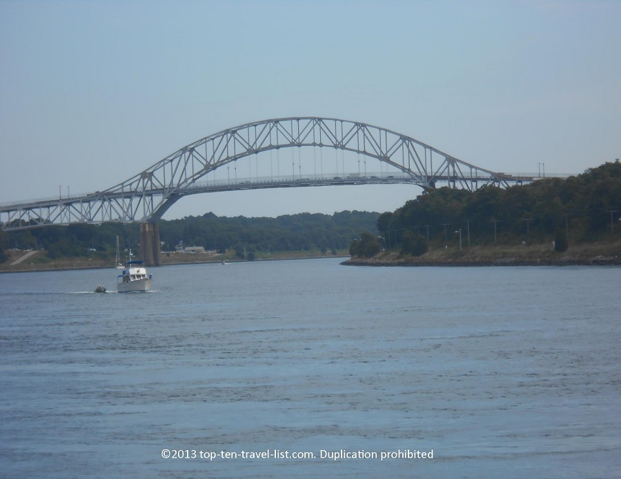 View of the Sagamore Bridge from the Cape Cod Canal Trail