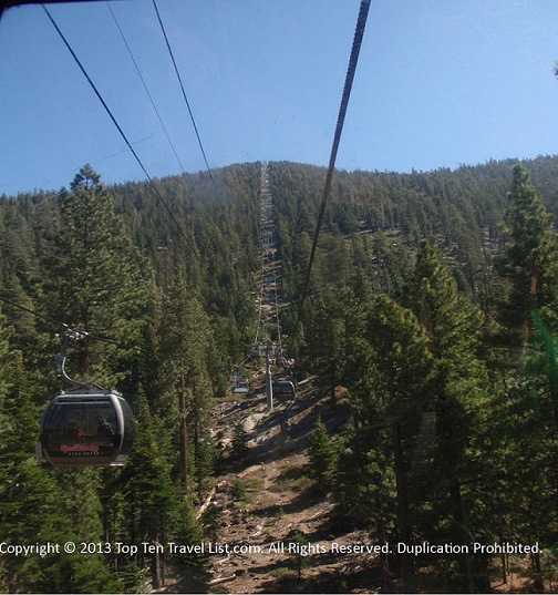 Scenic tram ride at Heavenly Village - South Lake Tahoe, CA